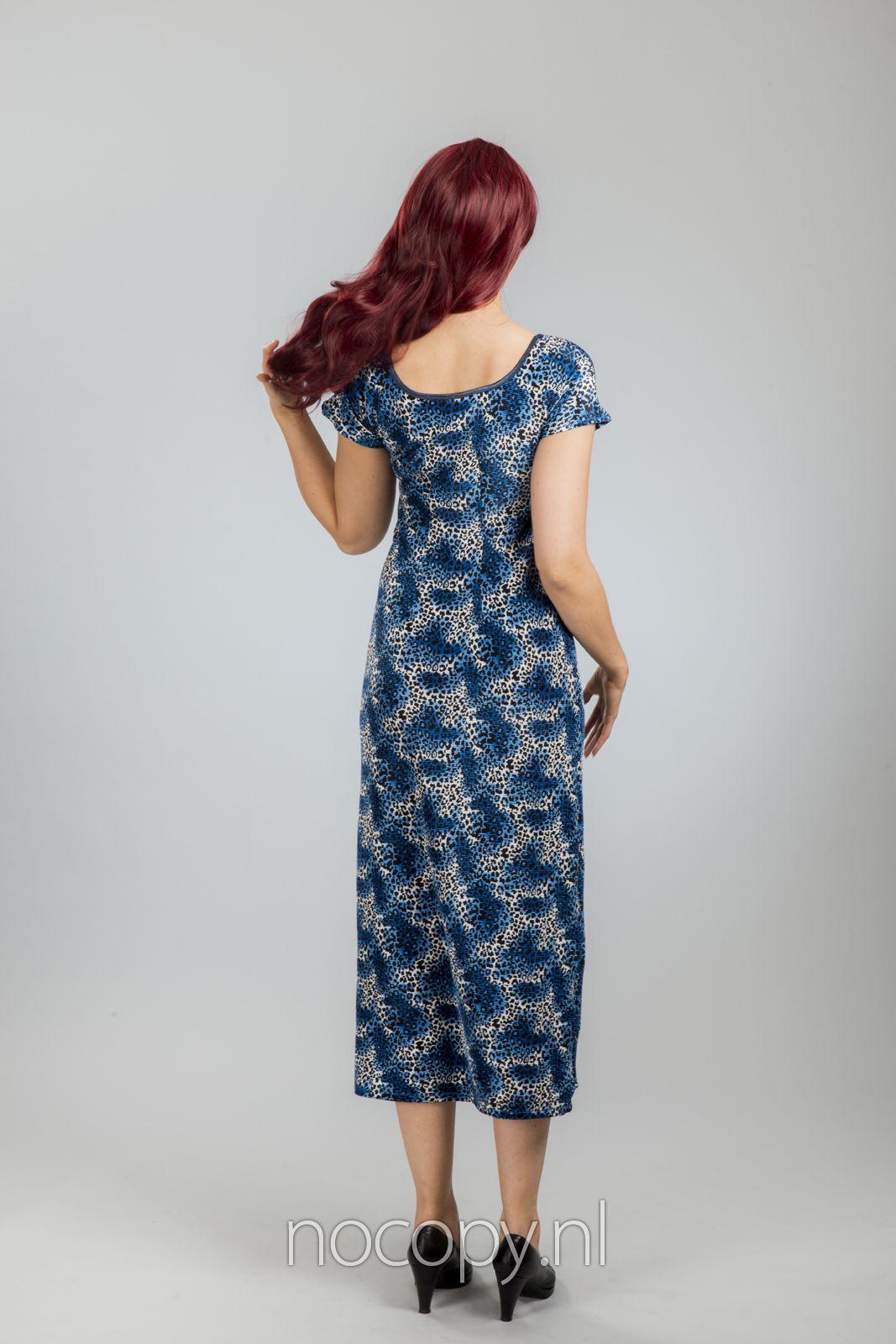 Blue panter jurk extra lang
