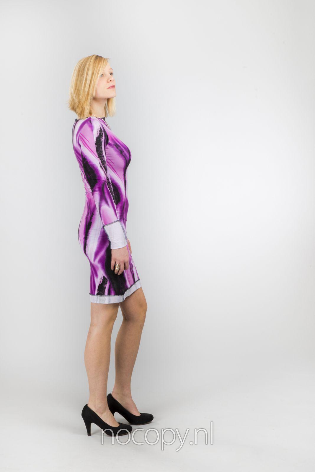Purple glide classy jurk