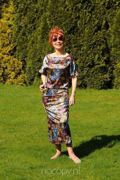 Rich classy satin dress