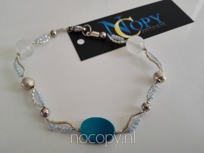 Blue shine bracelet