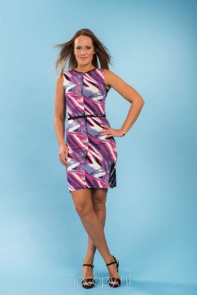 Chic elegante gekleurde jurk