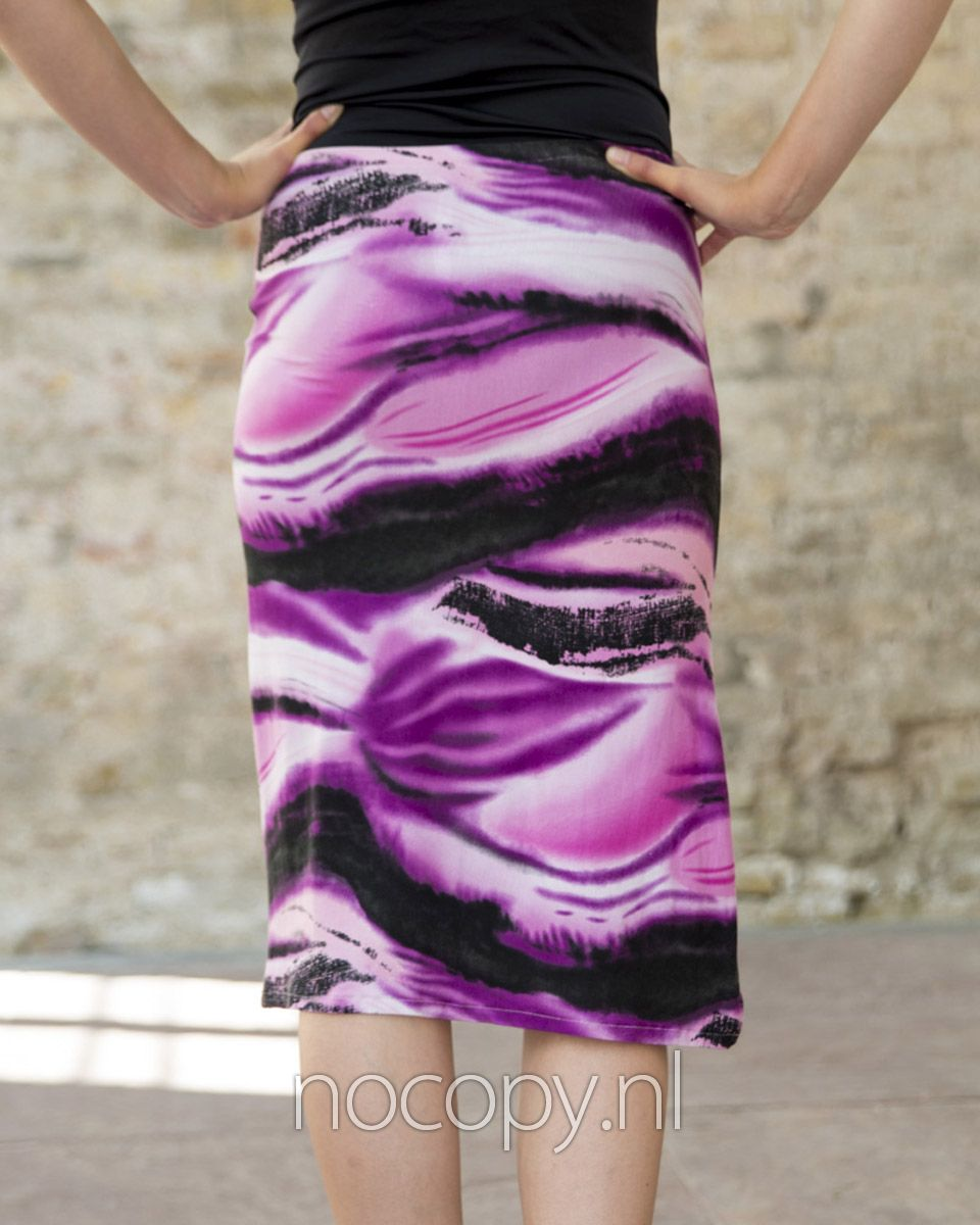 Purple glide skirt